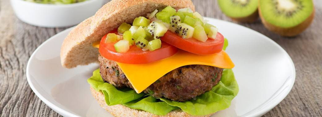 Home Burger with Mighties™ Kiwi Relish