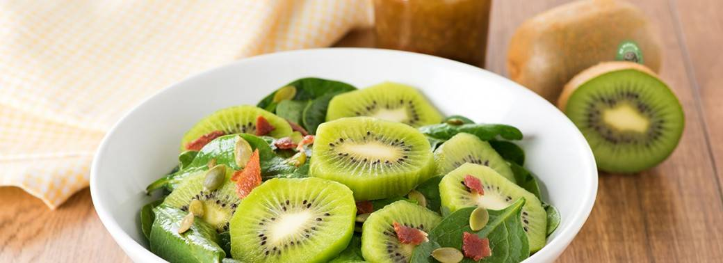Spinach Salad with Mighties™ Kiwi Vinaigrette