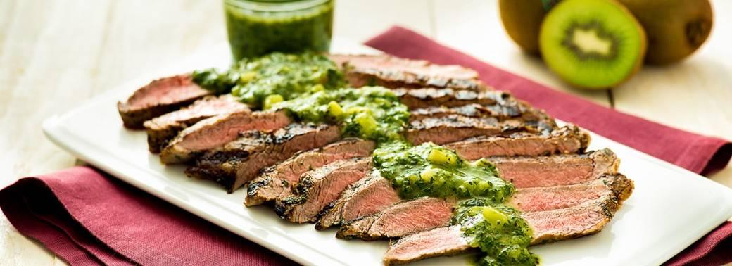Flank Steak with Mighties™ Kiwi Chimichurri