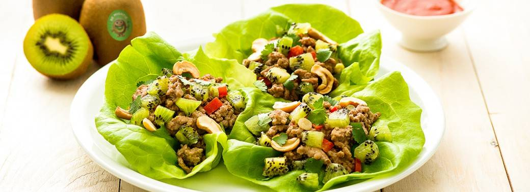 Lettuce Wraps with Hoisin Mighties™ Kiwi Pork