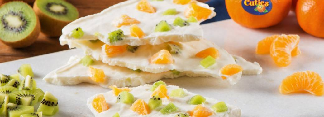 Mighties™ Kiwi and Cuties® Clementine Frozen Yogurt Bark