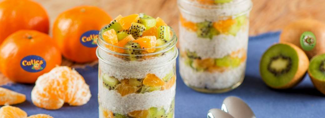 Cuties® Clementine and Mighties™ Kiwi Chia Pudding