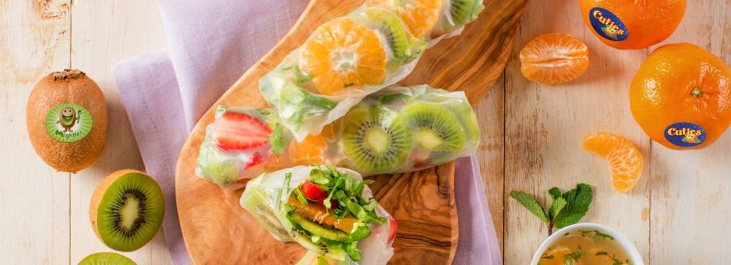 Mighties™ Kiwi and Cuties® Clementine Salad Rolls
