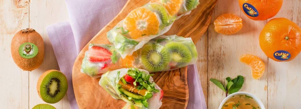 Mighties™ Kiwi and Cuties® Clementine Salad Rolls